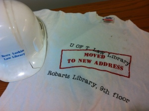 the last remaining hard hat and t-shirt.  From the crack that spontaneously