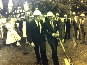 Ground Breaking Ceremony: July 14, 1988,  JRS Pritchard and David Peterson