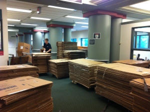 So how many boxes do we need to move 80,000 books?